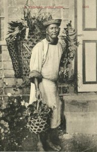 tibet thibet, Native Thibetian Orchid Seller (1910s) Postcard