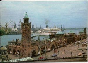 Hamburg Harbor - Steamship Europa - Post Card - Unused