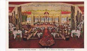 Illinois Chicago Edgewater Beach Hotel Marine Dining Room
