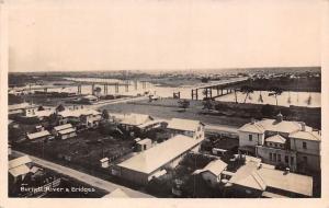 Australia Queensland, Burnett River & Bridge Panorama 1908