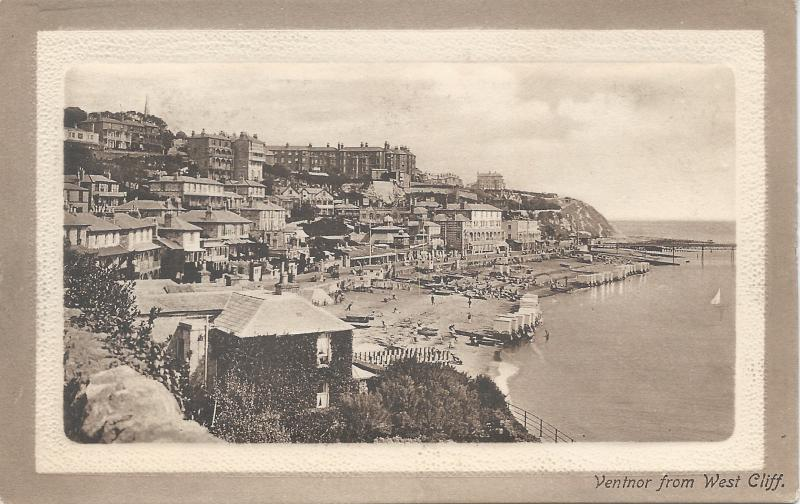 Ventnor from West Cliff, Isle of Wight, England, Early Postcard, Unused