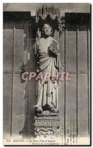 Old Postcard Amiens Le Beau Dieu d & # 39Amiens Portal of the cathedral