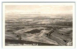 RPPC  LEWISTON HILL, Idaho ID ~ Birdseye Real Photo 1953  ELLIS #373 Postcard