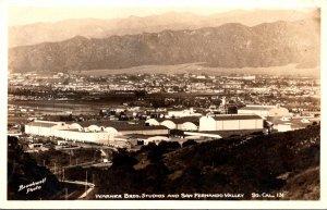 California Warner Brothers Studios and San Fernando Valley Real Photo