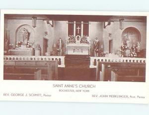 Unused Pre-Chrome CHURCH SCENE Rochester New York NY L5114