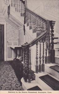 Connecticut Stonington Stairway In The Stanton Homestead