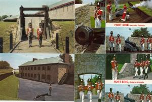 Old Fort Erie Ontario Canada 4x Canadian Military Postcard s