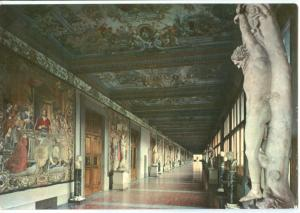 Italy, Firenze, Galleria degli Uffizi – Terzo Corridoio, 1965 used Postcard