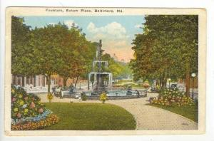 Fountain, Eutaw Place, Baltimore, Maryland,PU- 00-10s
