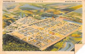 Wichita Falls Texas Sheppard Field Birdseye View Antique Postcard K7876586