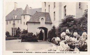 California Christian Science Benevolent Association Entrance 1949 Real Photo