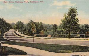 The Main Drive at Highland Park NY, Rochester, New York - pm 1912 - DB