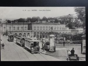 France: ROUEN Gare (Rive Droite) showing Trams - Pub by C.V. No.355