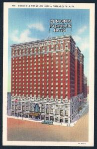 Benjamin Franklin Hotel Philadelphia PA unused c1933