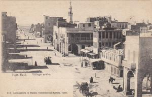 PORT SAID, Village arabe, Street Car, Horse-drawn carriage, Egypt, 00-10s