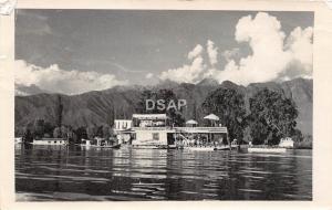C53/ Kashmir Srinagar India Foreign RPPC Postcard House Boat Maha Jong 1962