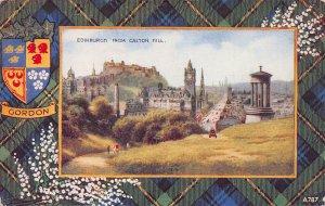 Edinburgh from Calton Hill, Scotland, Early Postcard, Used