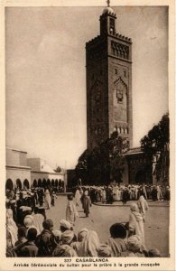 CPA AK CASABLANCA - Arrivée ceremoniale du sultan MAROC (796105)