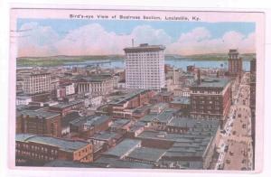 Panorama Business Section Louisville Kentucky 1928 postcard