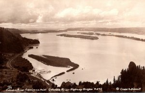 Oregon Columbia River Highway Columbia River From Crown Point Real Photo