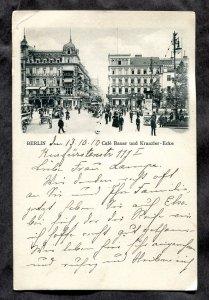 dc882 - GERMANY Berlin 1910 Cafe Bauer und Kranzler-Ecke