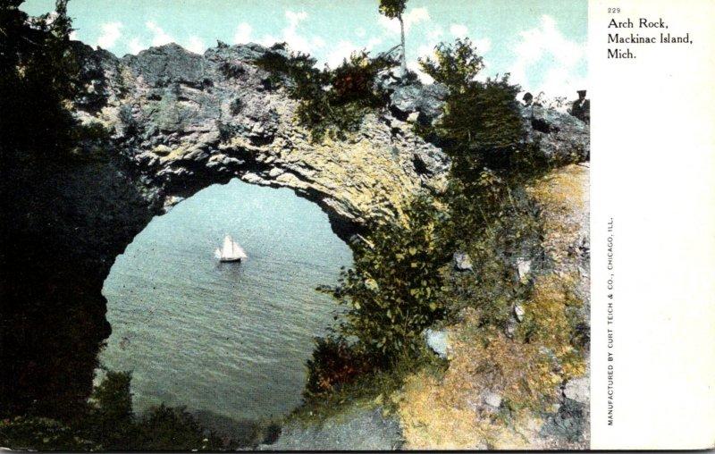 Michigan Mackinac Island Arch Rock Curteich