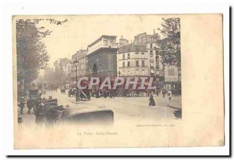 Paris (10th) Vintage Postcard the door Saint Martin