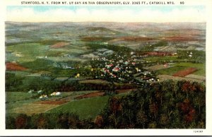 New York Stamford Aerial View From Mount Ut-Say-An-Tha Observatory Curteich