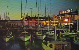 California San Francisco Fishermans Wharf At Night