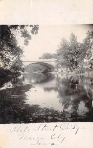 Mason City IA High Street Bridge Over Willow Creek~RPPC 1908