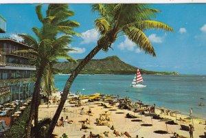 WAIKIKI , Hawaii , 1950-60s ; Diamond Head
