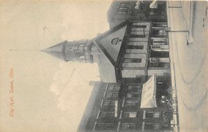 F41/ Salem Ohio Postcard Columbiana County c1910 City Hall Building 4