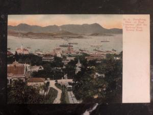 Mint Hong Kong Color Postcard RPPC Tramway And Harbour From Bowen Rd