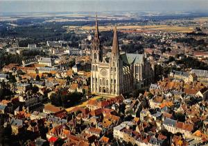 France Chartres Vue generale et la Cathedrale Vu du ciel par Alain Perceval
