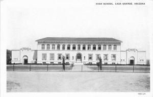 Casa Grande Arizona High School Mallonee Teich 1920s  Postcard 5717