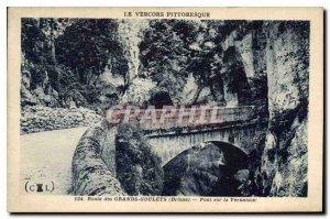 Old Postcard Picturesque Vercors Drome Road Great Narrow Bridge Vernaison