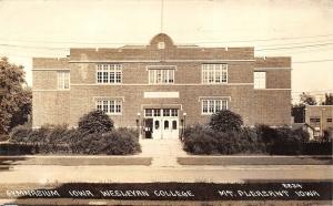 Mount Pleasant Iowa 1940 RPPC Real Photo Postcard Gym Iowa Wesleyan College