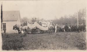 RP; SOUTH VALLEY , Saskatchewan, 1900-10s ; Queen Maude School Parade