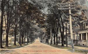 Lockport New York~Genesee Street Looking West~1914 Postcard