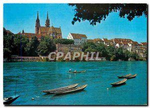 Postcard Modern Basel Rhine and Cathedral