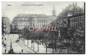 Old Postcard Mainz Schillerplatz mit gouverment