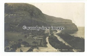 tq1316 - Enjoying the Cliffs of Happy Valley & Marine Drive, Llandudno- postcard