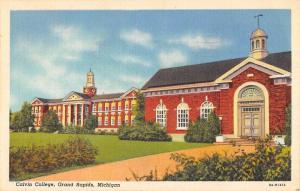 Grand Rapids Michigan Calvin College Street View Antique Postcard K86506