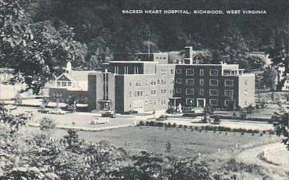 West Virginia Richwood Sacred Heart Hospital Aerial View Artvue