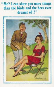 Birds & The Bees Man Boats Ultimate Sex Education Comic Humour Postcard
