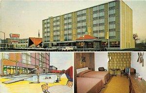 Louisville Kentucky 1960s Postcard Howard Johnson's Motel Multiview Room Pool