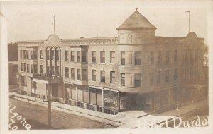 G24/ Algona Iowa RPPC Postcard c1910 Hotel Durdal Building