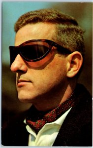 Vintage 1950s Chrome Advertising Postcard NEW PANORAM SPORT GLASS Sunglasses