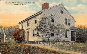 John G Whittier Homestead built 1688 - Haverhill, Massachusetts MA