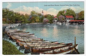 Lake and Boat House, Central Park, New York City